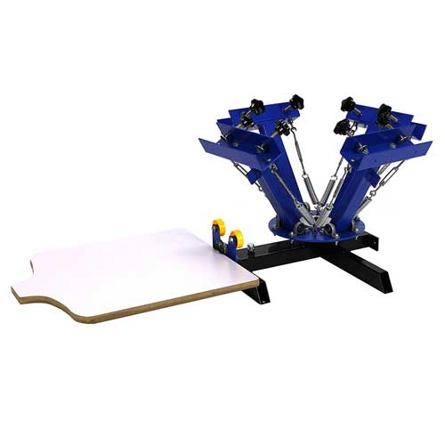 Commercial Bargains NS401 4 Color 1 Station Silk Screen Commercial Printing Press Machine Review