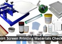 T-shirt Screen Printing Materials Checklist For Beginners