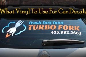 What Vinyl To Use For Car Decals?