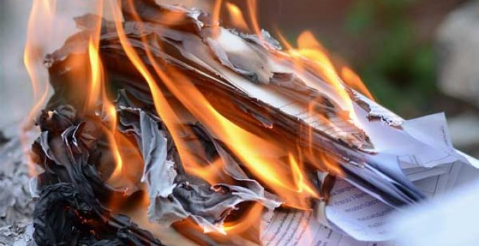 Burn Paper Documents