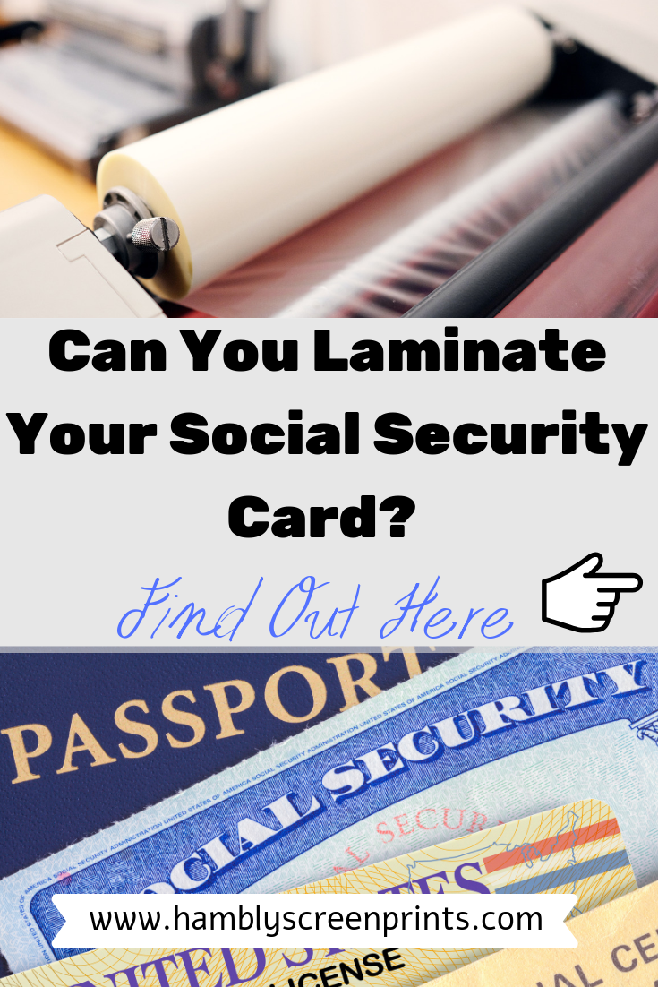 can you laminate your social security card?