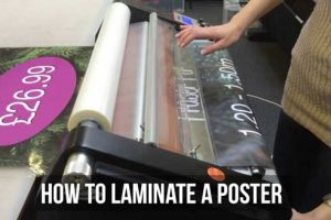How to Laminate A Poster