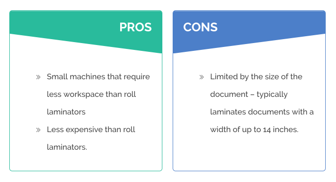 pros and cons of pouch laminators